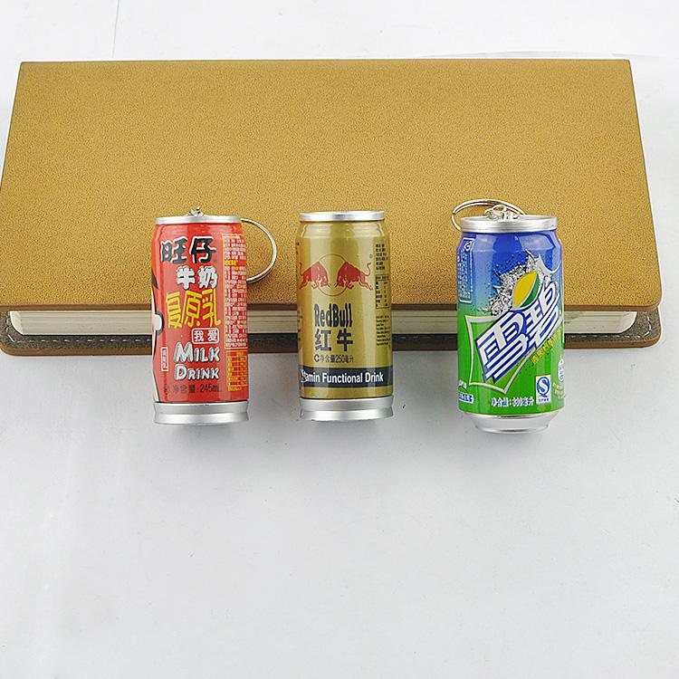 561-107易拉罐笔创意圆珠笔可爱学生钥匙扣伸缩笔 饮料罐圆珠笔