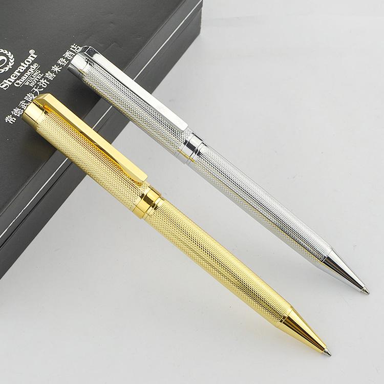 高档金属圆珠笔 商务广告礼品笔激光定制LOGO书写文化扭动笔610