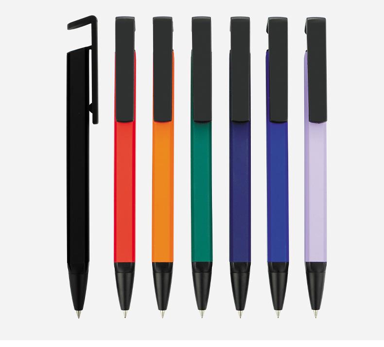 四方笔   定制logo水性签字广告笔宣传多功能手机支架金属笔跳动笔 Z002