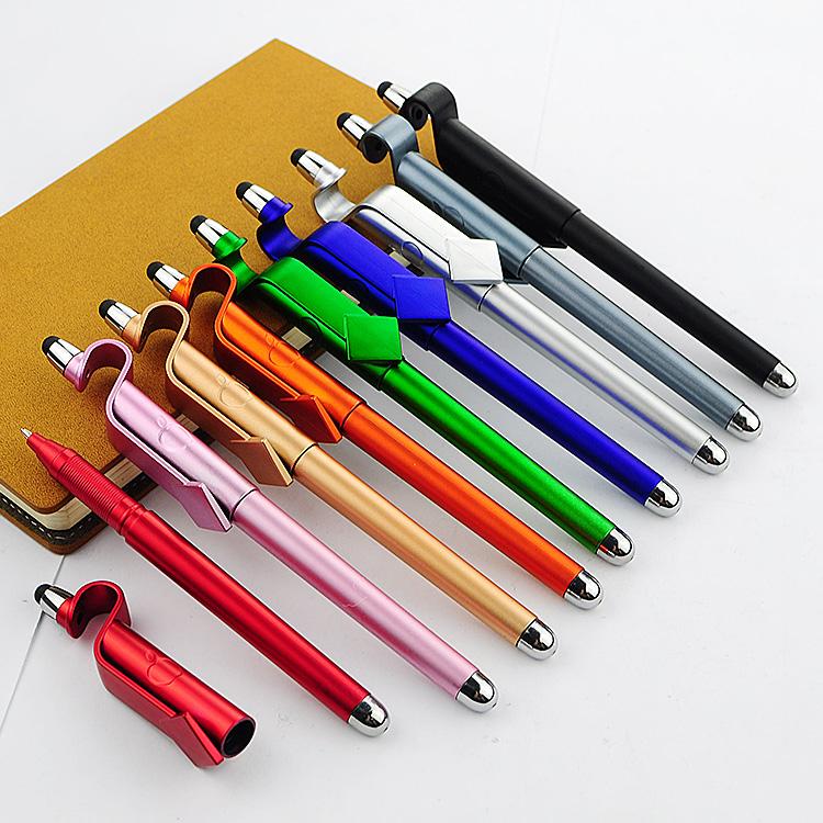 547-3048A触屏手机支架笔二维码签字笔广告宣传多功能笔定制LOGO